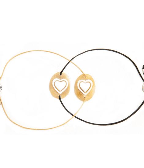 Anna e Alex, Cammeo, Amore, bracciale cuore, beige,BRCCC2