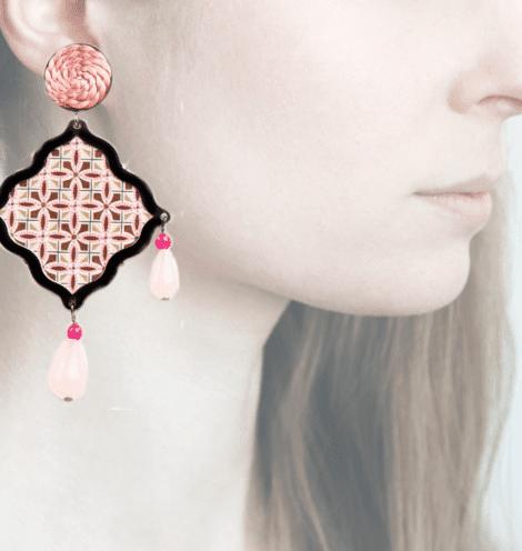 Anna e Alex, arte miniature, mosaico, pink OMS5