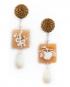 Cameo Bosco earrings – Apple and Snake