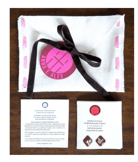 Anna e Alex, packaging, cammeo earrings