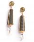 Dame gold lamé earrings