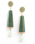 Dame gold lamé earrings