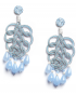 Pavone silver lamé earrings