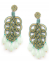 Pavone gold lamé earrings