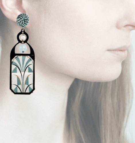 Profile, Anna e Alex, arte miniature, liberty deco, blu, OLD4.