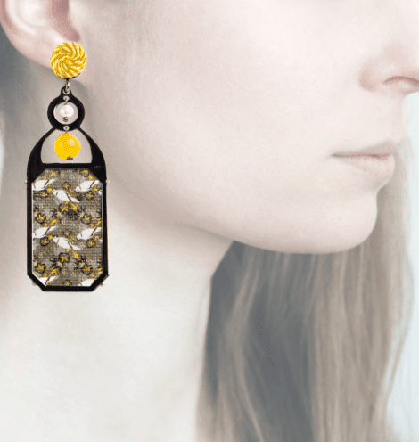 Profile, Anna e Alex, arte miniature, liberty deco, giallo, OLD8.