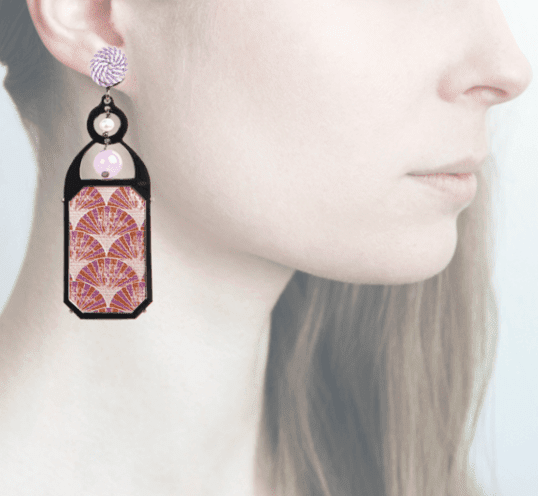 Profile, Anna e Alex, arte miniature, liberty deco, lilla, OLD1.