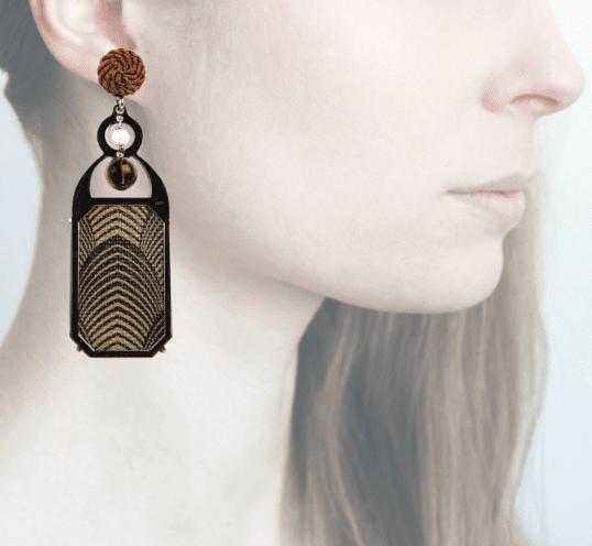 Profile, Anna e Alex, arte miniature, liberty deco, marrone, OLD7.
