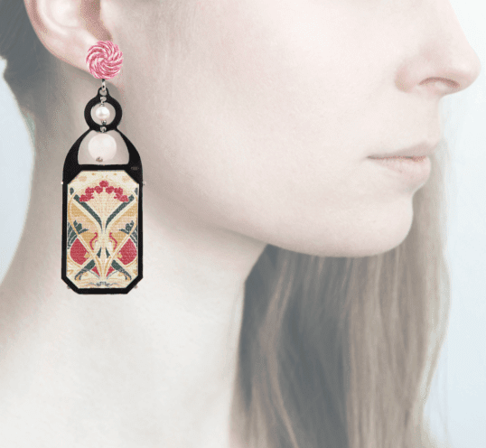 Profile, Anna e Alex, arte miniature, liberty deco, pink, OLD3.