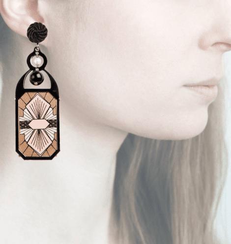 Profile, Anna e Alex, arte miniature, liberty deco, rosa,nero OLD6.