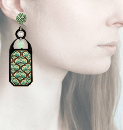 Profile, Anna e Alex, arte miniature, liberty deco, verde, marrone, OLD2.