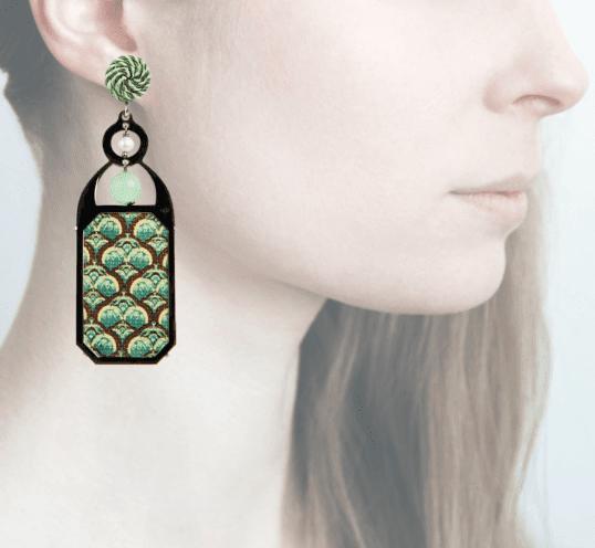 Profile, Anna e Alex, arte miniature, liberty deco, verde, marrone, OLD2.