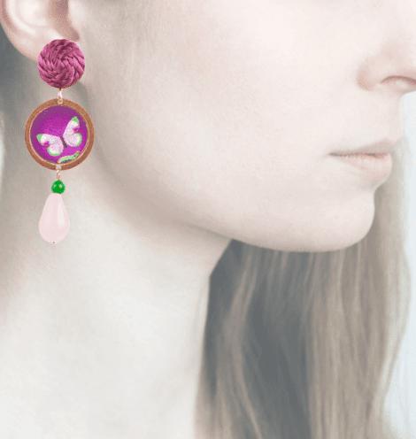 Profile, Arte miniature, Bosco, farfalla, OBO6