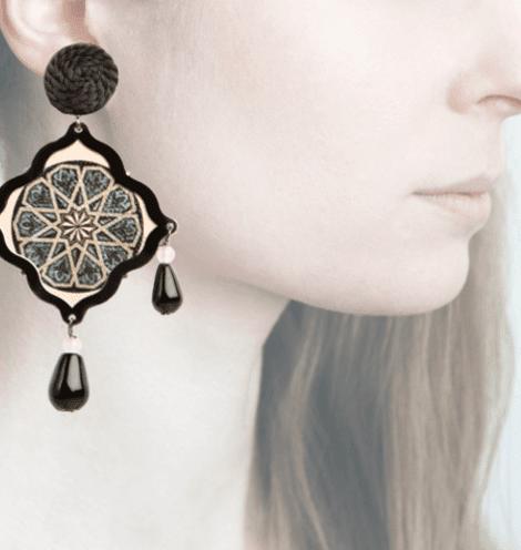Profile, Arte miniature, mosaico, nero, OMS1