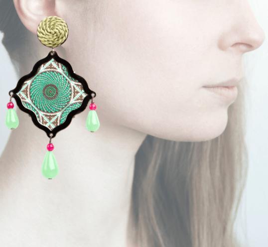Profile, Arte miniature, mosaico, verde,OMS3