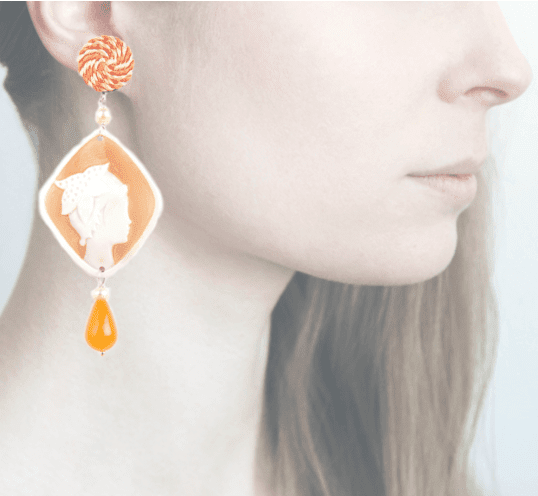 Profile, Cammeo, marina deco, stella marina, arancio, OCAM17