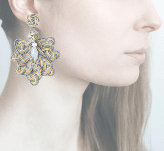 Profile, Passamaneria, foglia oro, blu, OFGO4