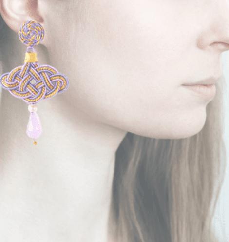 Profile, Passamaneria, lanterna oro, lilla, OFGO1