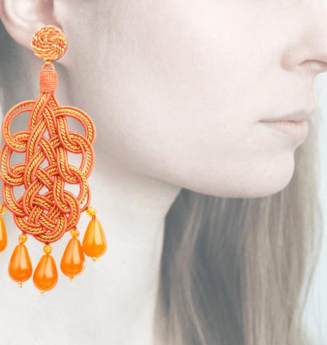 Profile, Passamaneria, pavone oro, arancio, OPAVO6