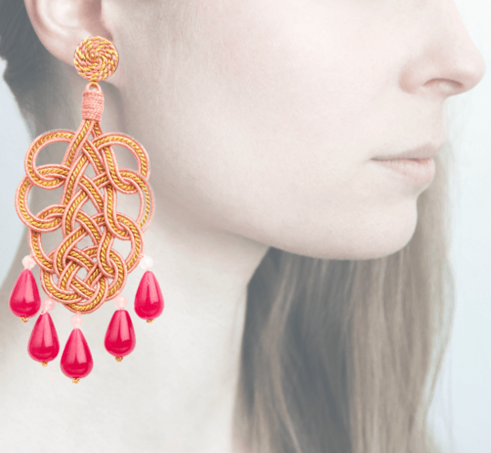 Profile, Passamaneria, pavone oro, rosa, OPAVO2
