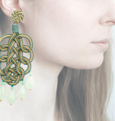 Profile, Passamaneria, pavone oro, verde, OPAVO5