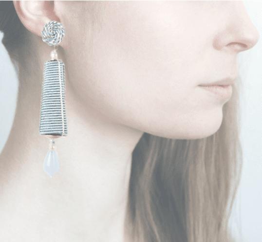 Profile,  passamaneria, dame argento, blu chiaro, OPDA12