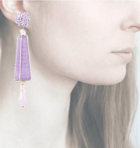 Profile, passamaneria, dame argento, lilla, OPDA9
