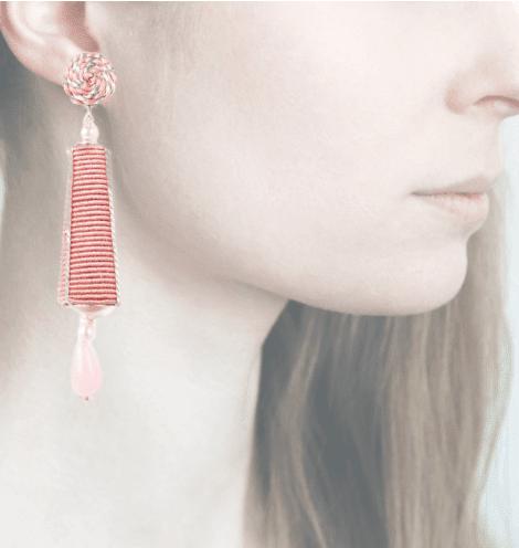 Profile, passamaneria, dame argento, rosa, OPDA11