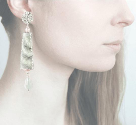 Profile, passamaneria, dame argento, verde chiaro, OPDA10