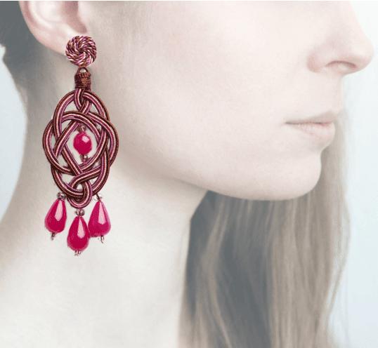 Profile, passamaneria, orecchini ellisse, OELAA5