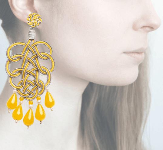 Profile, passamaneria, pavone argento, giallo, OPAVM6