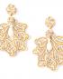 Foglia gold lamé earrings