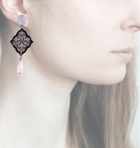 profile, anna e alex, arte miniature, minimosaico, lilla, OMMS1