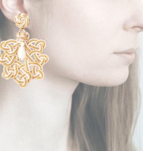 Profile, Passamaneria, foglia oro, gardenia, OFGO5