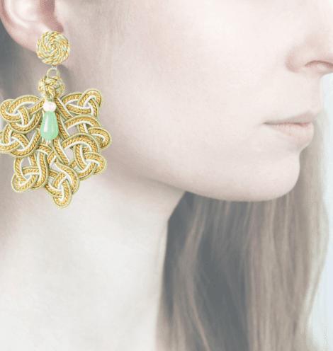 Profile, Passamaneria, foglia oro, verde, OFGO2