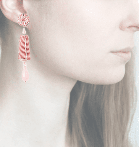 Profile, passamaneria, dame argento mini, rosa, OPDAM11