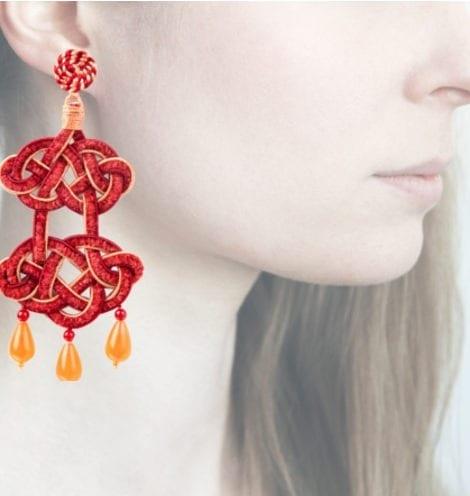 Profile, chandelier rosso