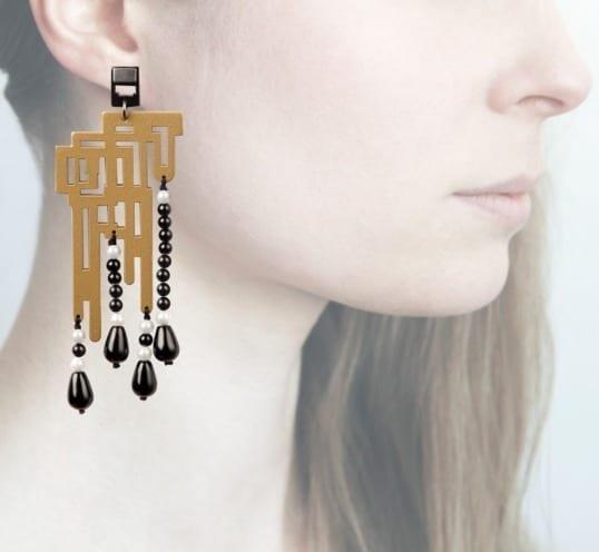 Profile, Anna e alex, orecchini legno, OLDL2