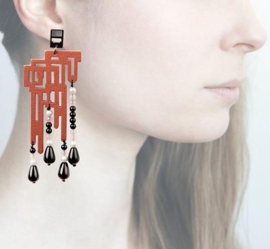 Profile, Anna e alex, orecchini legno, OLDL3