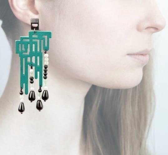 Profile, Anna e alex, orecchini legno, OLDL4