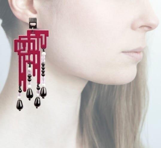 Profile, Anna e alex, orecchini legno, OLDL5