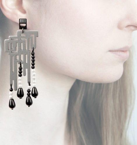Profile, Anna e alex, orecchini legno, OLDL6