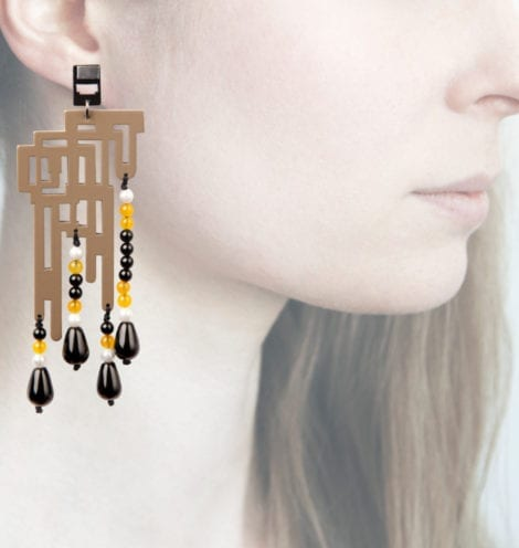 Profile, Anna e alex, orecchini legno, OLDL8