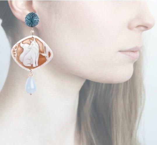 Profile, volpe blu