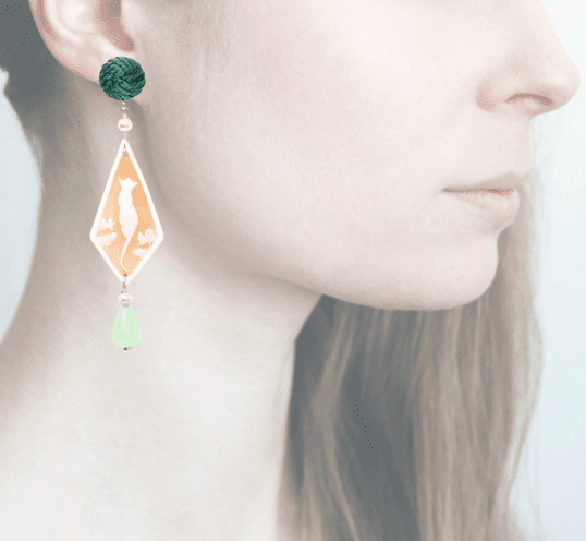 profile, Anna e Alex, Safari Deco collection, cammeo, pantera, verde, OCAMSG2