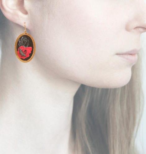 profile, Anna e Alex, Arte Flora e Fauna Collection, Farfalla, Rosso, ORFF2