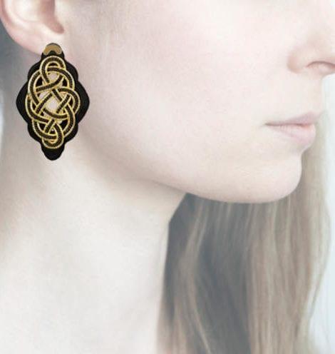 profile, Anna e Alex, Regina Nera Collection, oro-nero, small, ORRNS3