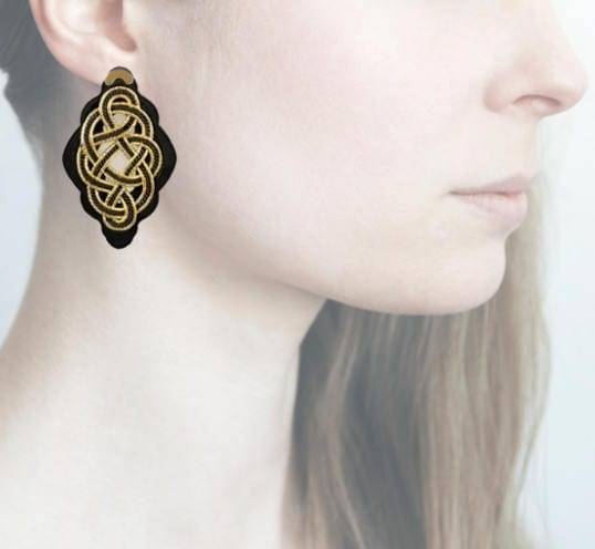 profile, Anna e Alex, Regina Nera Collection, oro-nero, small, ORRNS3