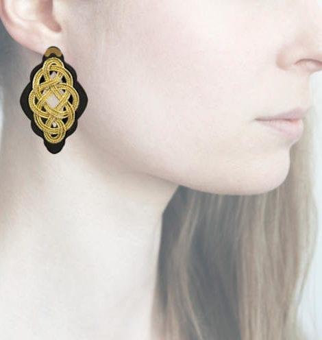 profile, Anna e Alex, Regina Nera Collection, oro, small, ORRNS2