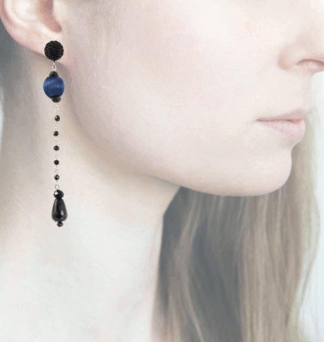 Profile, Anna e Alex, Orecchini Drop, Blu, OCRNERO3